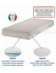 materasso memory silver materasso in memory dispositivo medico silver confort misura 120x190