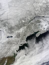 Snow Depth Map New England by Snow Covered Northeastern United States Nasa