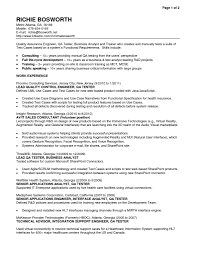 sample resumes for business analyst sample resume quality assurance sample resume qa tester free resume templates
