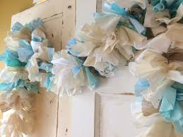 Blue Baby Shower Decorations Burlap And Blue Baby Shower Party Decoration 6 10 Foot Fabric
