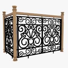 decorative wrought iron fencing panels iron