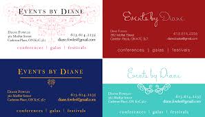 business cards for event planning sample choice image card