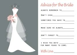Advice Cards For Bride Give Wedding Wishes To The Bride With This Bridal Shower Game