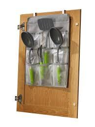 kitchen cabinet door organizer amazon com jokari cabinet door gadget pockets kitchen gadget