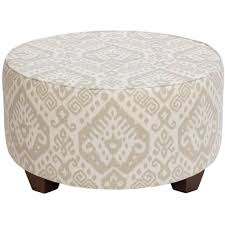 White Round Ottoman by Furniture Exotic White Round Cocktail Ottoman Design With Unique