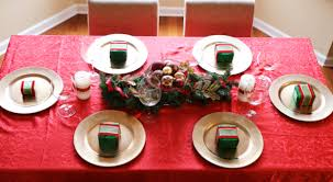 simple christmas table settings fast five christmas table decorations and sew we craft