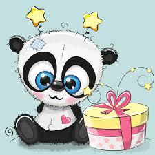 cute panda happy birthday card vector 01 vector birthday vector