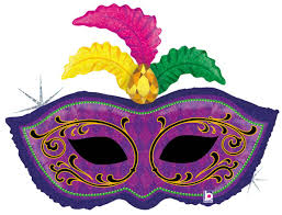 mardi gras masks and karaloon shop 1 foil balloon mardi gras mask