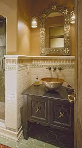 Bathroom With Wainscoting Ideas Bathroom Best Powder Room Vanity With Dark Wood Cabinets And