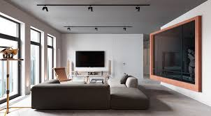 a sleek apartment interior design with modern and unique decor