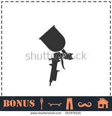 Painting Icon Airbrush Car Paint Icon Concept Illustration Stock Vector