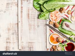 chinese thai food background asian cooking stock photo 383414311