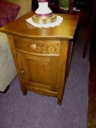 Curved Nightstand End Table Oak Nightstands Foter