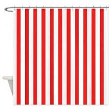 red striped shower curtain foter