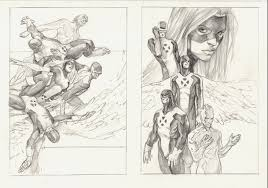 marko djurdjevic x men first class 1 and alternate sketch in