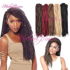 Human Hair Loc Extensions by Wholesale 18 U0027 U0027 Synthetic Fauxlocs Crochet Hair 24roots Faux Locks