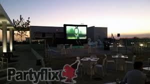 outdoor movie screen rental in san antonio