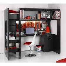 lit surélevé avec bureau lit mezzanine avec bureau et rangements lits mezzanines pour