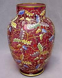 Antique Cranberry Glass Vase 139 Best Moser Glass Images On Pinterest Antique Glass Glass