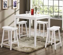 white counter height table dining height table with storage base
