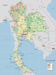 Large World Map Maps Of Thailand Detailed Map Of Thailand In English Tourist