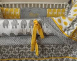 Gray And Yellow Crib Bedding Baby Bedding Crib Bedding Organic Cotton Black And White