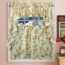 shabby chic kitchen curtains inspirations also floral with roses