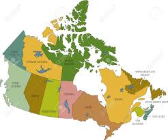 Nova Scotia Canada Map by A Full Color Map Of Canada With Province Names Called Out Stock