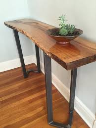 Entryway Tables And Consoles Sofa Table Entryway Table Live Edge Slab Bar Table Console Table
