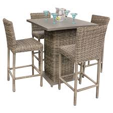 Patio Pub Table Pub Style Patio Furniture Bar Height Outdoor Dining Table Patio