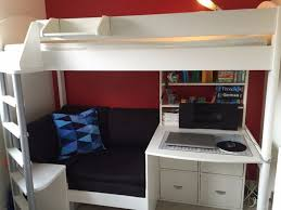 High Sleeper Bed With Desk And Sofa Stompa High Sleeper Sofa Bed Pull Out Desk Storage