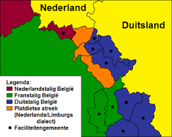 belgium language map low dietsch dialects