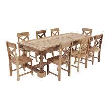 trestle base dining table rustic teak wood trestle base dining table and chair set