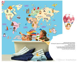 Rainforest Wall Stickers Fashion Cartoon Map Wallpaper Fashion Decoration Delicate Stickers