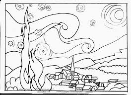 16 famous artists coloring pages free famous paintings gogh