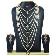 bridal pearl necklace sets images Pearl necklace sets 7 step nizam bridal jewellery in semi jpg