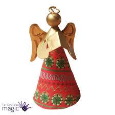 gisela graham tin cone angel instrument christmas xmas hanging