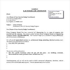 letter of intent for a job 9 download free documents in pdf word