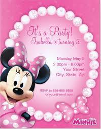 21 minnie mouse invitation templates free sample