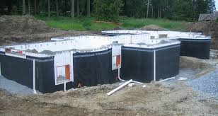 Icf Concrete Home Plans Superseal S Dimpled Membrane On An Icf Insulated Concrete Form