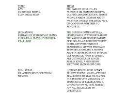 Video Resume Script Example by Television News Broadcast Script Media Writing Jordan Roman