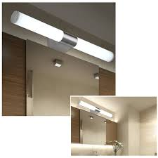 fuloon modern brief tube stainless steel led wall light make up