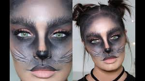 cute black cat diy halloween costume makeup tutorial youtube