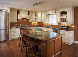 classic kitchen cabinets white marble tile floor stainless steel