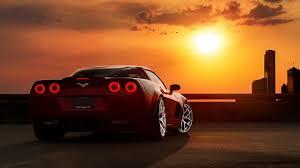 corvette wallpaper sunset chevrolet corvette c z