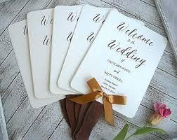 rustic wedding fan programs rustic wedding fan etsy
