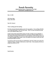 teacher cover letters example of resume for teaching position
