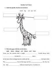 english worksheets giraffes can t dance ii