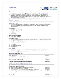 Sample Resume For Fresher Software Engineer by Cosy Resume For Sql Developer Fresher Also Resume Format For