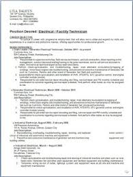 Sample Resume For Electrical Technician by Generator Electrical Technician Sample Resume Format In Word Free
